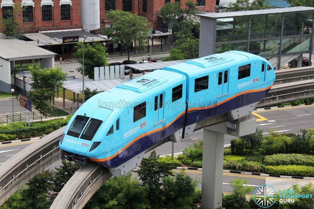 Sentosa Monorail - Blue Train