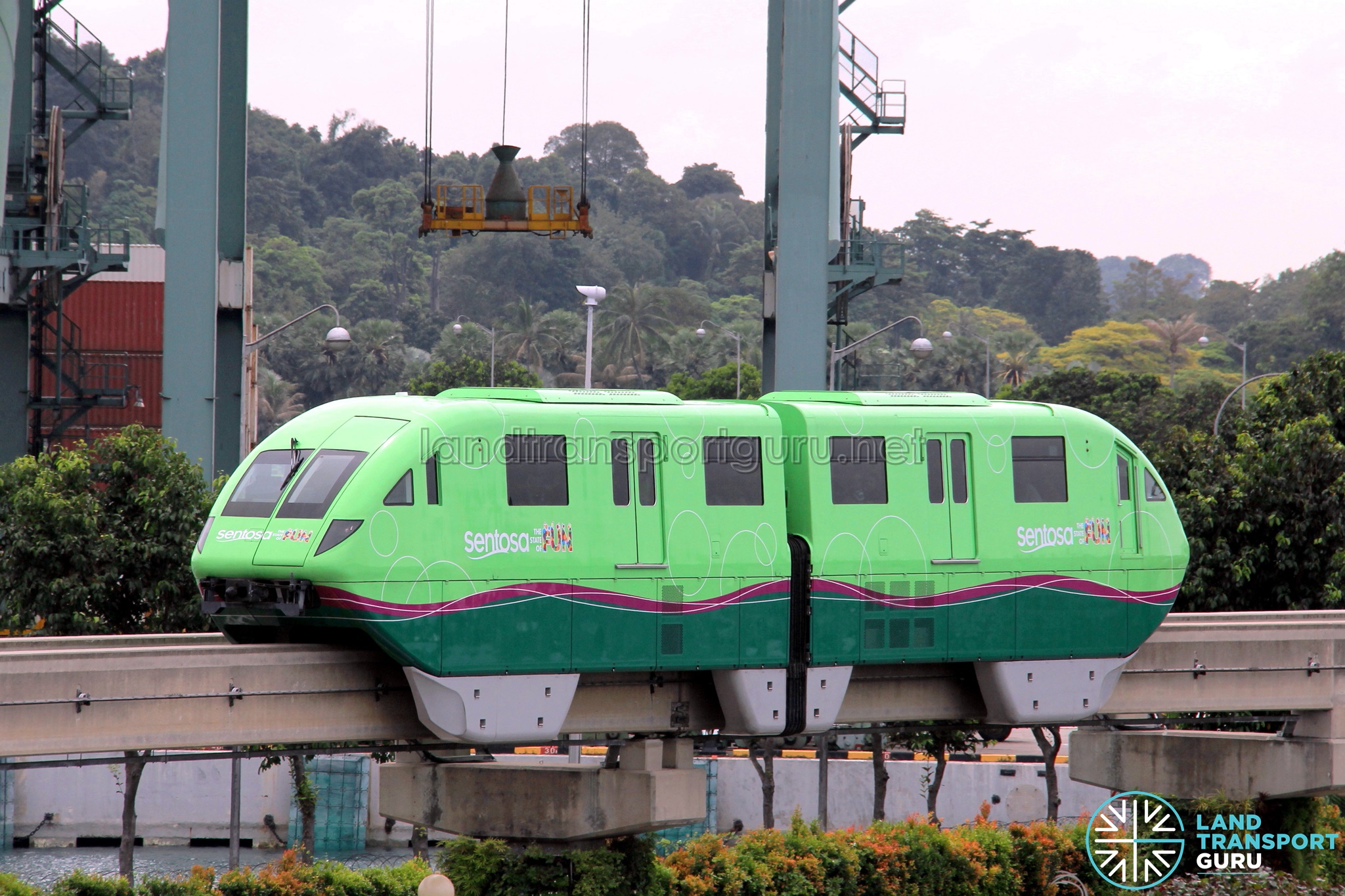 Sentosa Monorail (Green)
