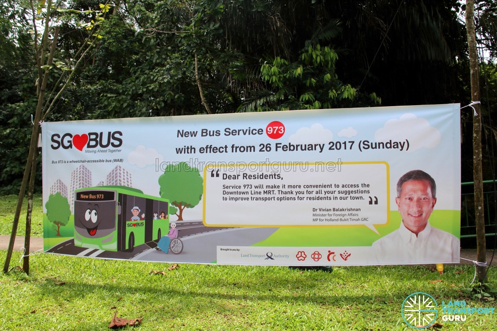 Promotional Banner for Bus Service 973