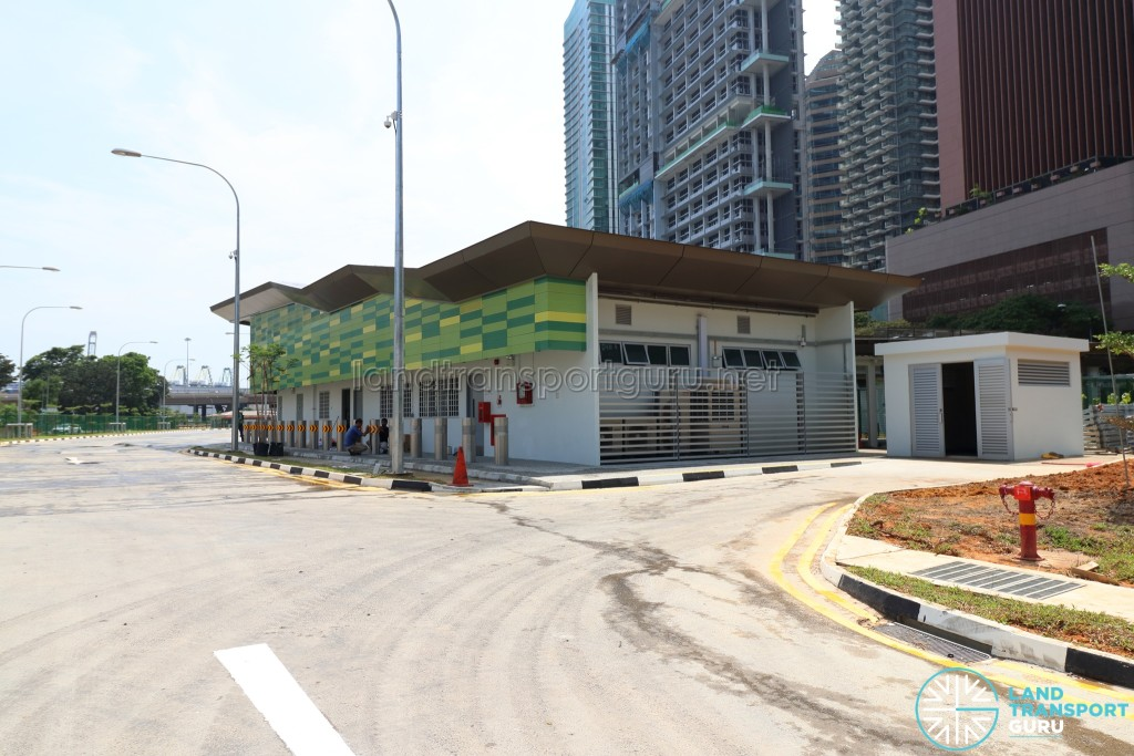 New Shenton Way Bus Terminal - Rear view of terminal building