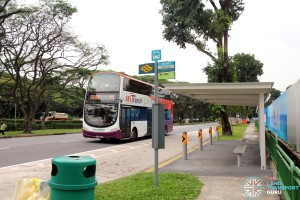 Bus Service 55 passing along Siglap Link