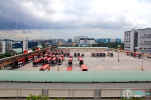 Soon Lee Bus Depot - Open-air parking on upper deck