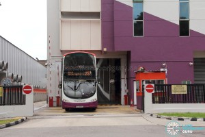 Soon Lee Bus Depot - Bus exiting