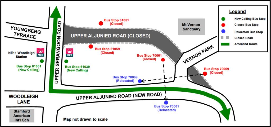 Upper Aljunied Road Closure