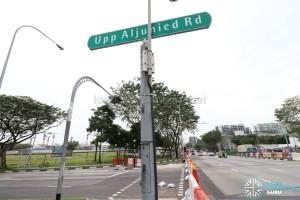 Upper Aljunied Road - Cordoned off from Upper Serangoon Road