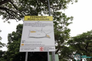 Upper Aljunied Road: Road Closure diagram