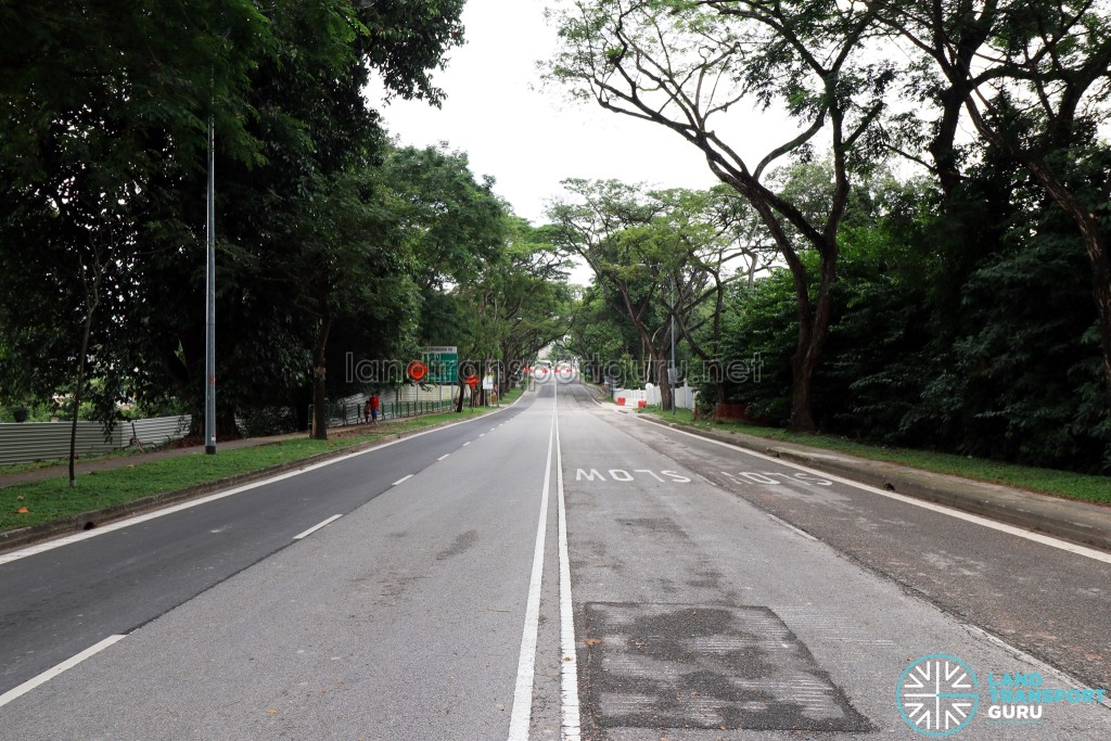 Closed section of Upper Aljunied Road