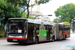 SMRT Mercedes-Benz O405G (TIB1022M) - North South Line MRT Shuttle (Bishan - Raffles Place)