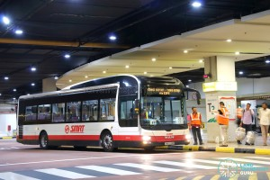 SMRT MAN NL323F A22 (SMB1334R): Tanah Merah – Changi Airport Parallel Bus Service (via Expo)