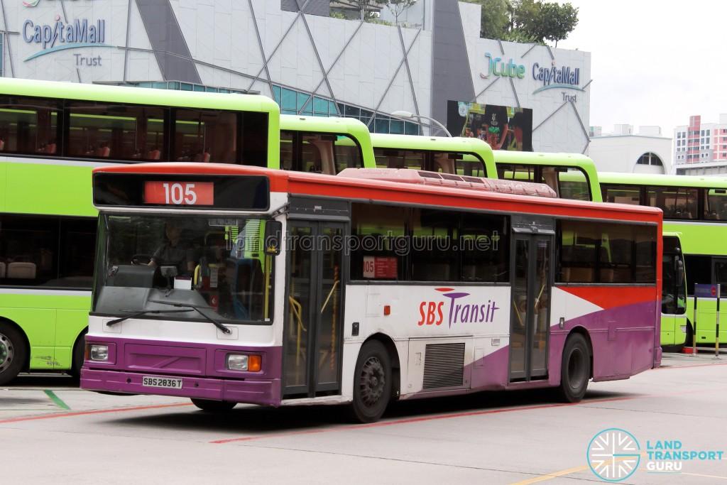 SBS Transit Volvo B10M MkIV DM3500 (SBS2836T) - Service 105