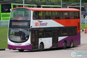SBS Transit Volvo B9TL Wright (SBS3055Z) - Service 117