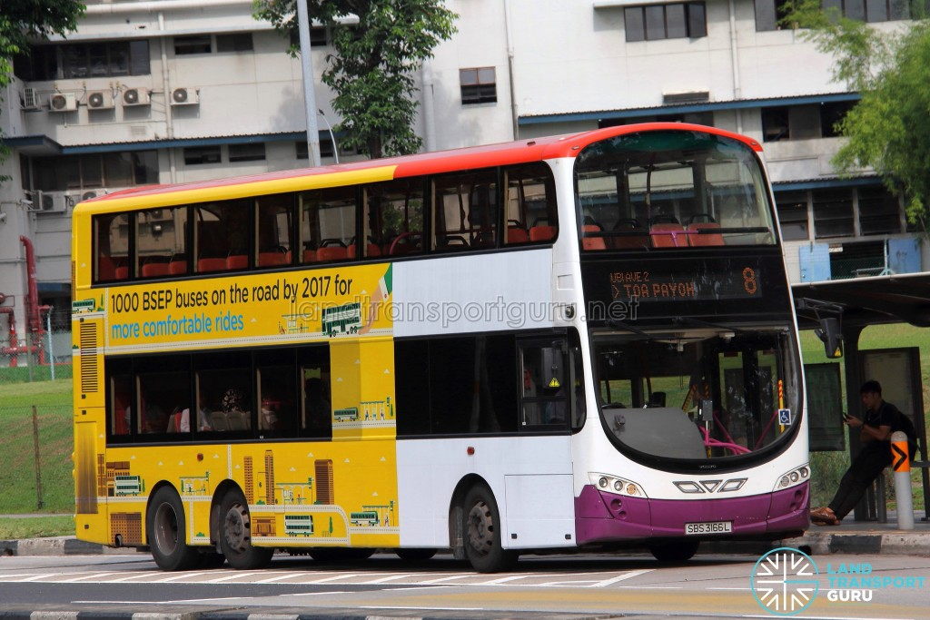 SBS Transit Volvo B9TL Wright (SBS3166L) - Service 8