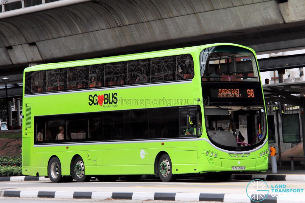 Tower Transit Volvo B9TL Wright (SBS3387R) - Service 98