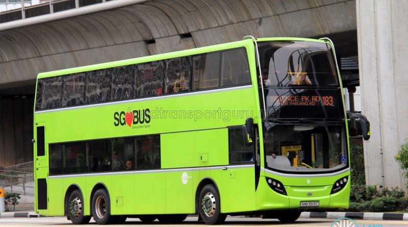 Tower Transit Alexander Dennis Enviro500 (SMB3513C) - Service 183