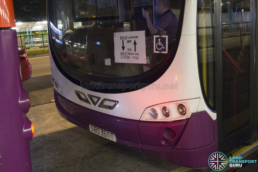 Lakeside – Boon Lay Parallel Bus Service (April 2017): SBS Transit route paper