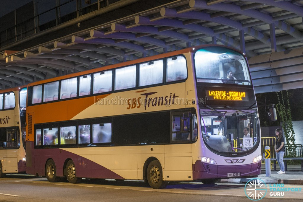 SBS Transit Volvo B9TL Wright (SBS3766E): Lakeside – Boon Lay Parallel Bus Service (April 2017)