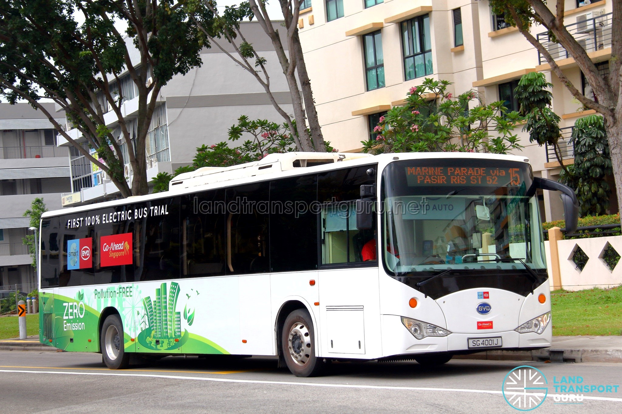 Go-Ahead Singapore BYD Electric Bus Trial