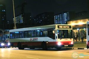 SMRT Mercedes-Benz O405 (TIB444K) - East West Line MRT Shuttle (Tanah Merah - Pasir Ris)