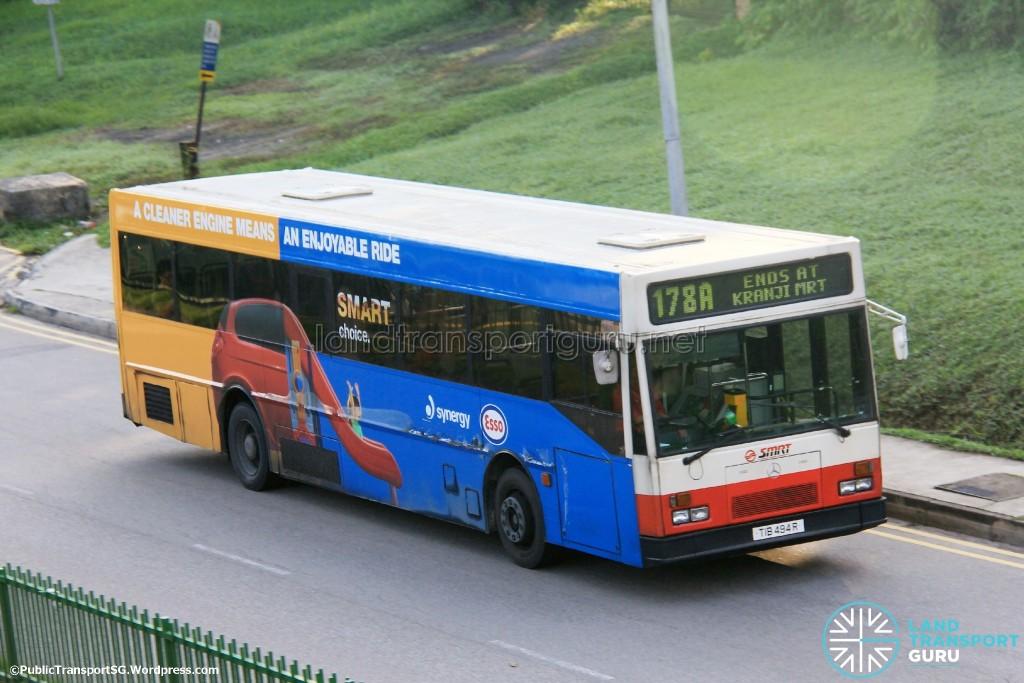 SMRT Mercedes-Benz O405 (TIB494R) - Service 178A