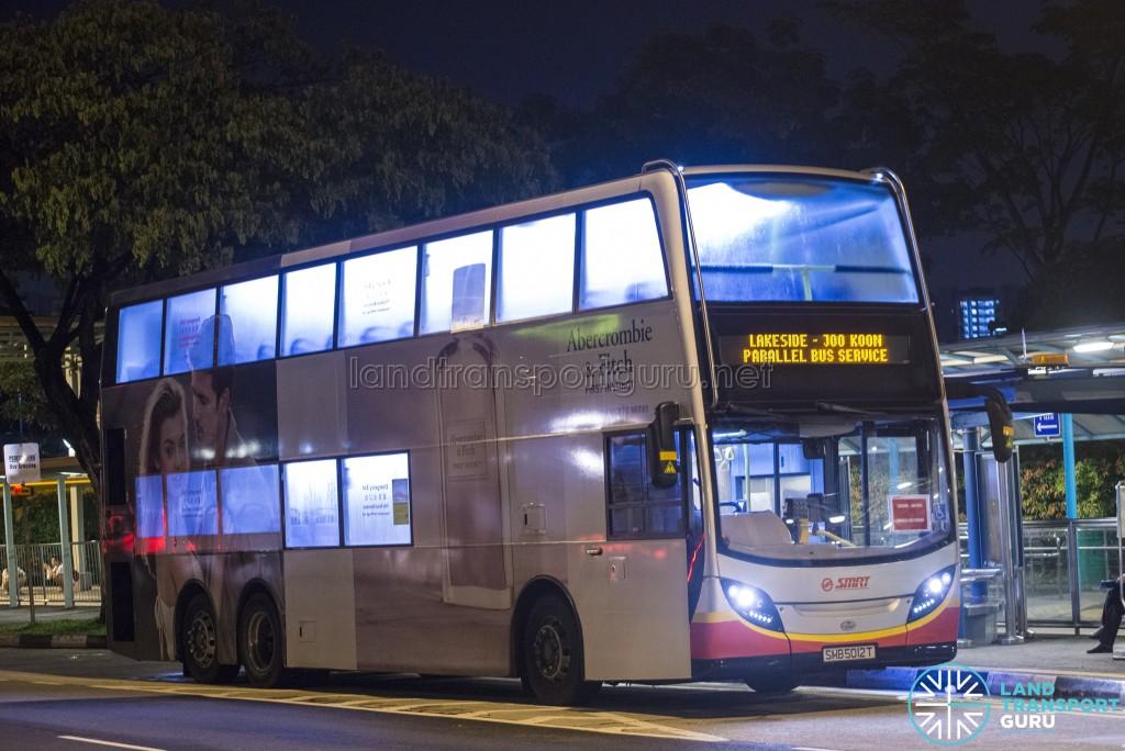 SMRT Alexander Dennis Enviro500 (SMB5017E): Lakeside – Joo Koon Parallel Bus Service (April 2017)