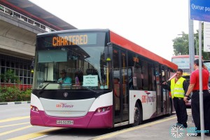 SBS Transit Scania K230UB (SBS5039H) - East West Line MRT Shuttle (Pasir Ris - Raffles Place)