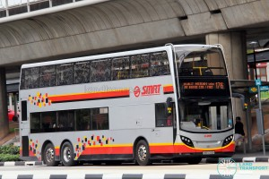 SMRT Alexander Dennis Enviro500 (SMB5068H) - Service 176