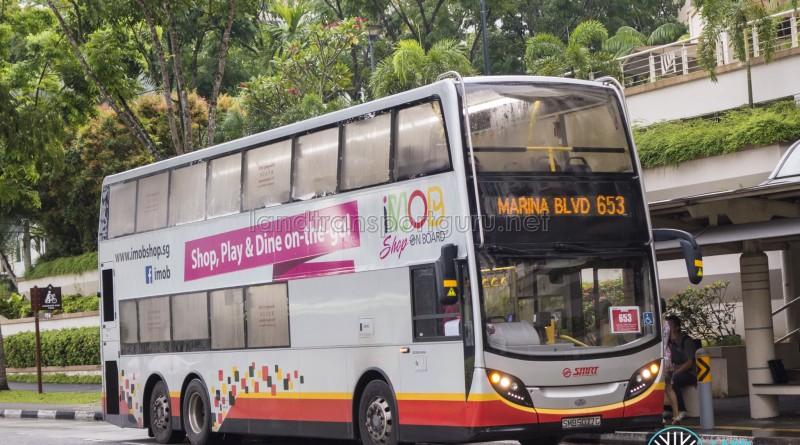 SMRT Alexander Dennis Enviro500 (SMB5077G) - City Direct 653