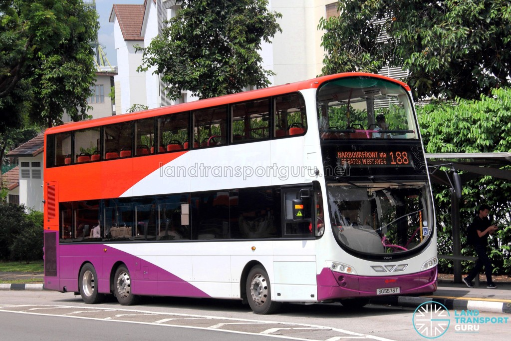 SMRT Volvo B9TL Wright (SG5573T) - Service 188, in SBS Transit livery