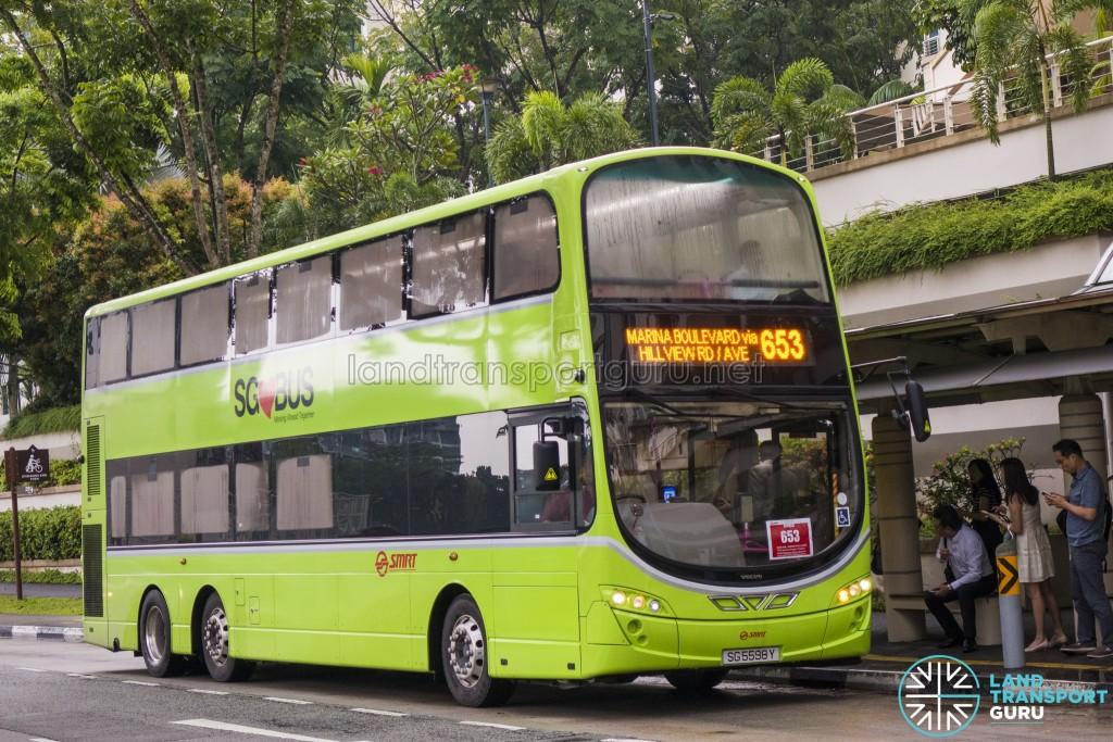 SMRT Volvo B9TL Wright (SG5598Y) - City Direct 653