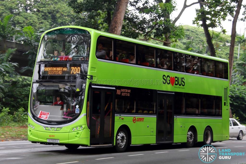 SMRT Volvo B9TL Wright (SG5600Z) - Service 700