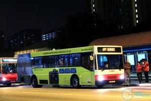 SMRT Mercedes-Benz O405 (TIB572Z) - East West Line MRT Shuttle (Tanah Merah - Pasir Ris)