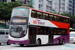 SBST Volvo B9TL Wright (SBS7704H) - Service 89A