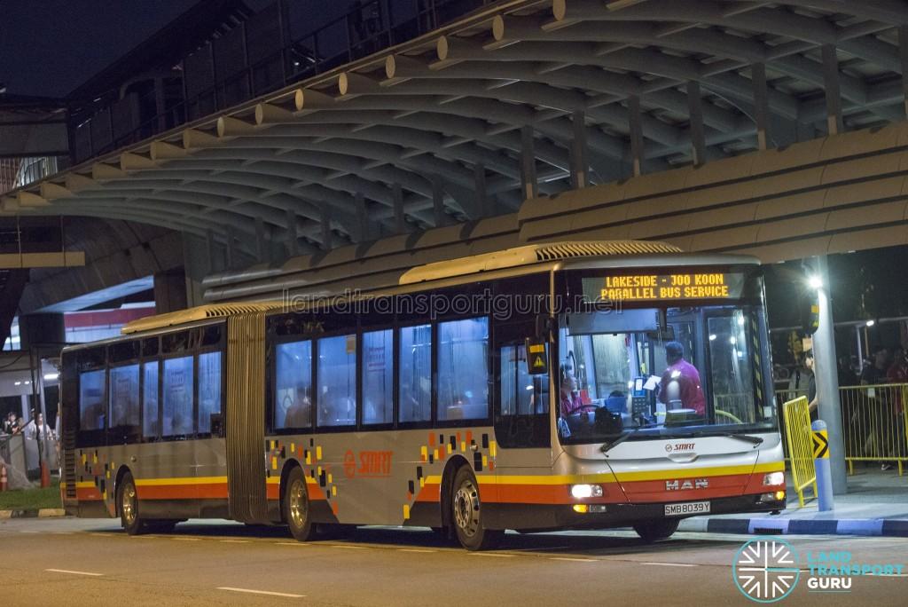SMRT MAN NG323F A24: Lakeside – Joo Koon Parallel Bus Service (April 2017)