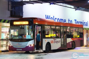 SBS Transit Scania K230UB (SBS8221C) - East West Line MRT Shuttle (Tanah Merah - Changi Airport)