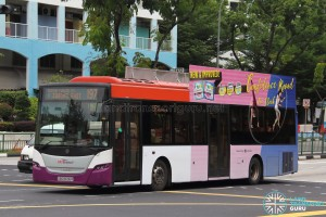 SBS Transit Scania K230UB (SBS8696R) - Service 197, with 2D advertising