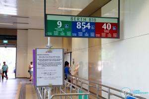 Reloacted Service 9 at Bedok Bus Interchange (Berth B10)