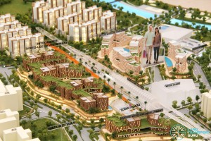 "Pasir Ris Integrated Transport Hub - To be built within the ""Integrated Mixed Use Development"". URA Exbibition."