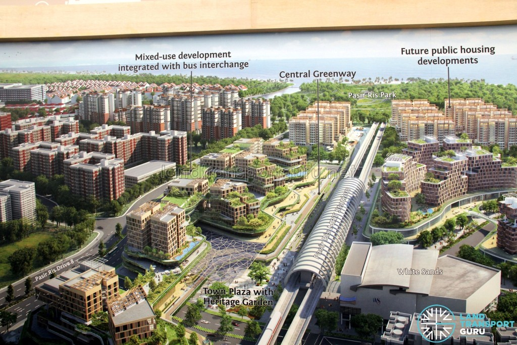 Pasir Ris Integrated Transport Hub - To be built west of Pasir Ris MRT Station. URA Exhibition.