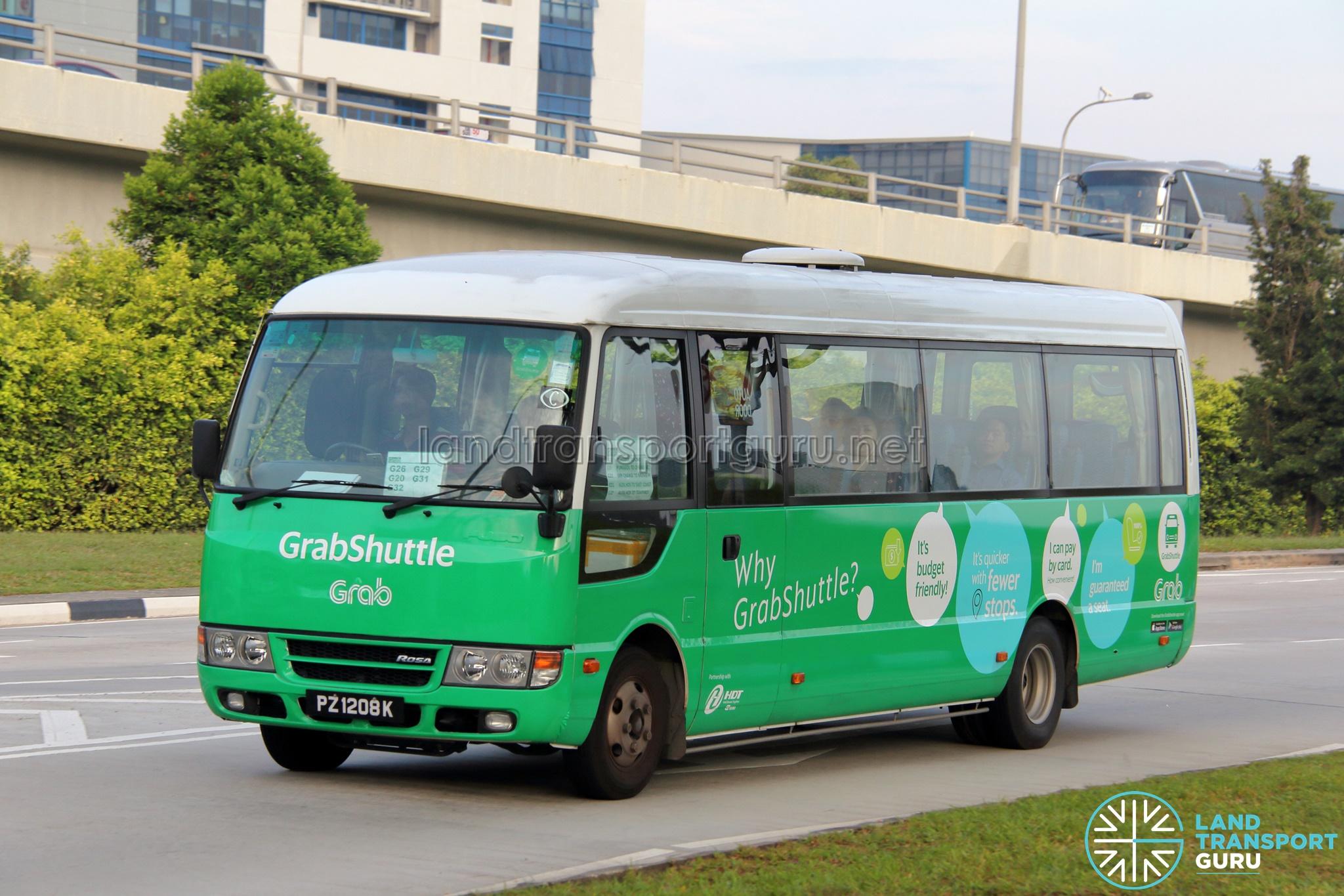 GrabShuttle Bus Routes | Land Transport Guru