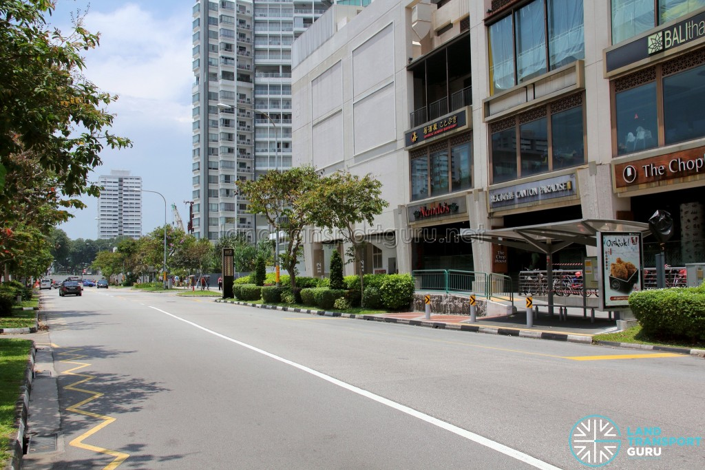 Closed section of Joo Chiat Road in the background