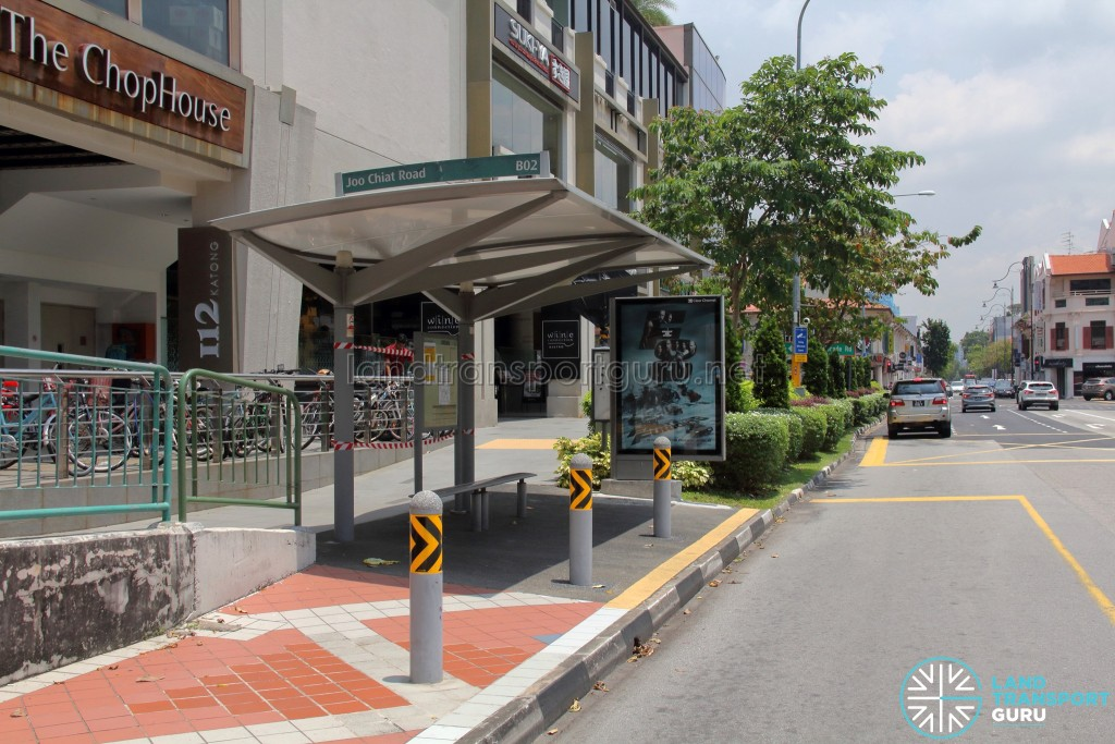 Bus Stop 92181 (112 Katong) along Joo Chiat Road. Temporary closed from 9 April 2017 onwards.