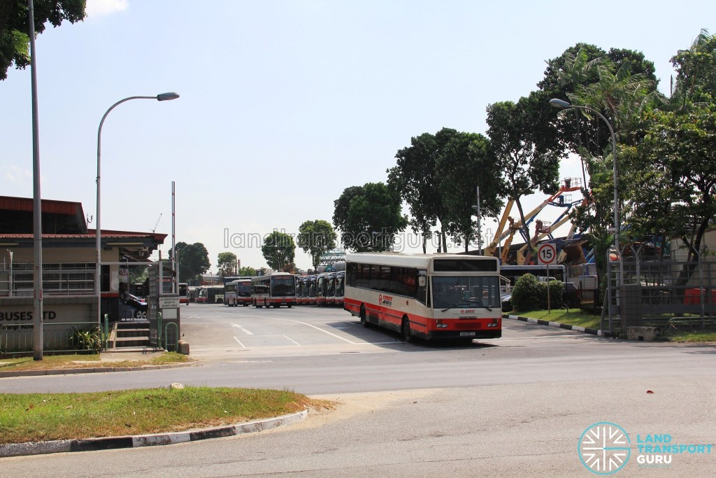 Kranji Bus Depot - Main Entrance along Kranji Road