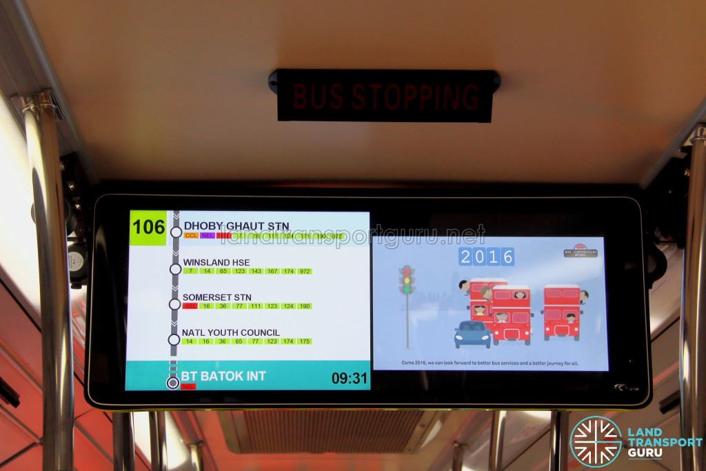 LTA Trial PIDS on SMB3053M - Service 106 towards Bukit Batok