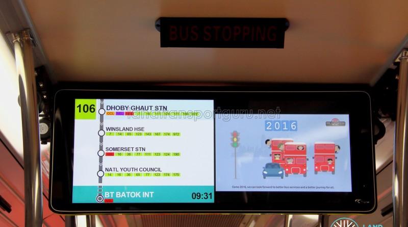 LTA Trial PIDS on SMB3053M - Service 106 towards Bukit Batok