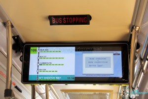 LTA Trial PIDS on SMB3053M - Service 106 towards Shenton Way