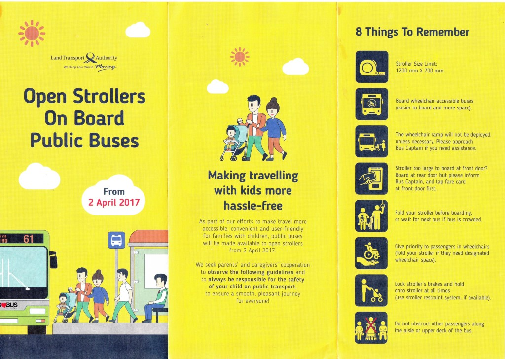 Open Strollers on board Public Buses - Flyer front