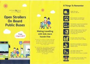 Open Strollers on board Public Buses - Flyer front