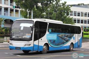 Jurong Island Bus Service 715A - Woodlands Transport Isuzu LT134P (PA9962U)