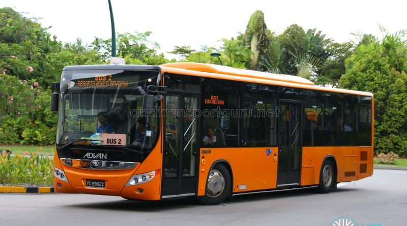 Advan Yutong ZK6126HGA AUTO (PC5982C) - Sentosa Bus 2