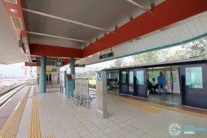 Punggol LRT - Samudera Station - Platform level
